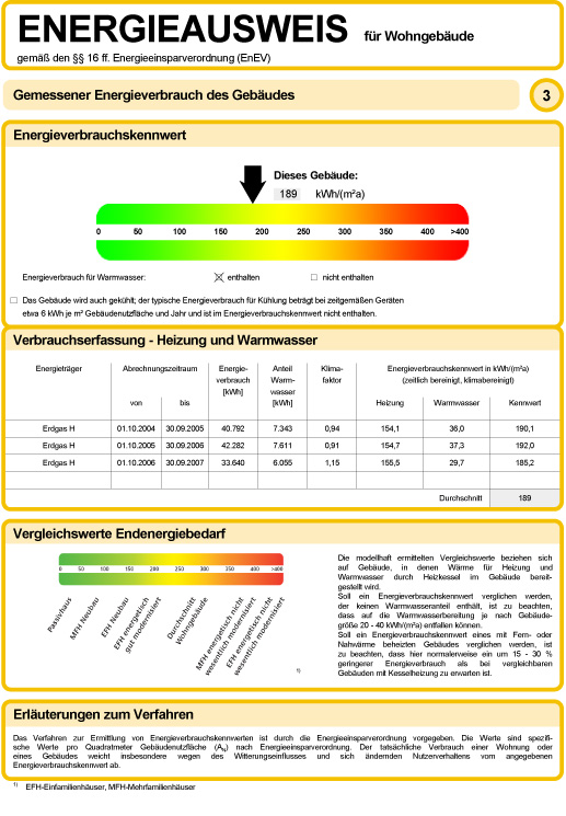 Energieberater gesucht? Das ist der Energieausweis für Wohngebäude gemäß den §§ 16 ff. Energieeinsparverordnung (EnEV)